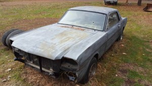 1966 mustang coupe project – $2250