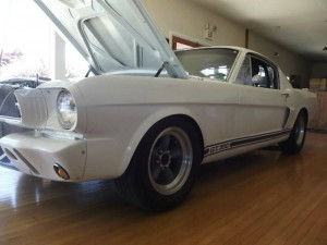 1966 Ford Mustang Fastback GT 350 R White/Blue stripes – $36500 Santa Rosa CA